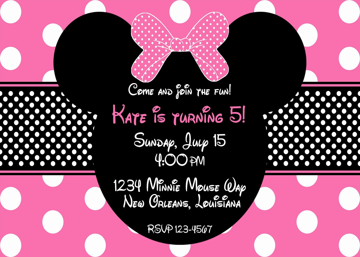 Minnie Mouse Birthday Invitations Fresh Etsy Your Place to and Sell All Things Handmade