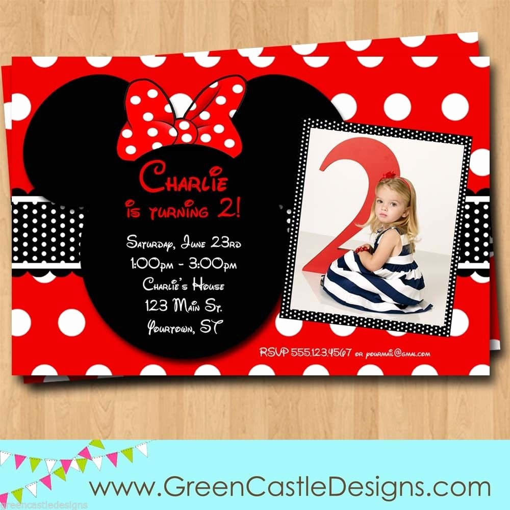 Minnie Mouse Birthday Invitations Fresh Free Customized Minnie Mouse Birthday Invitations Template