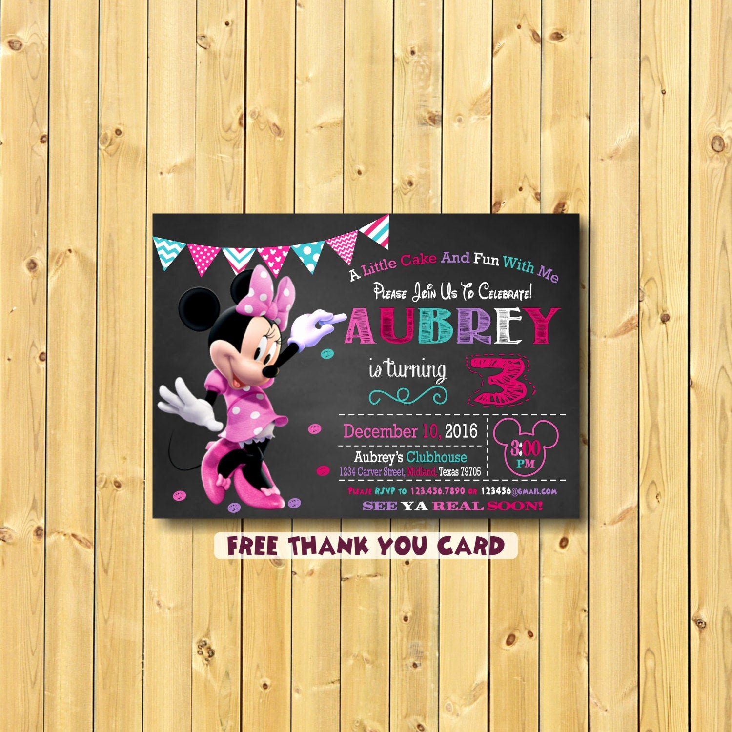 Minnie Mouse Birthday Invitations Lovely Minnie Mouse Invitation Minnie Mouse Party Invitation Minnie
