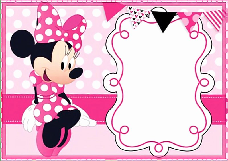 Minnie Mouse Birthday Invitations Lovely the Largest Collection Of Free Minnie Mouse Invitation