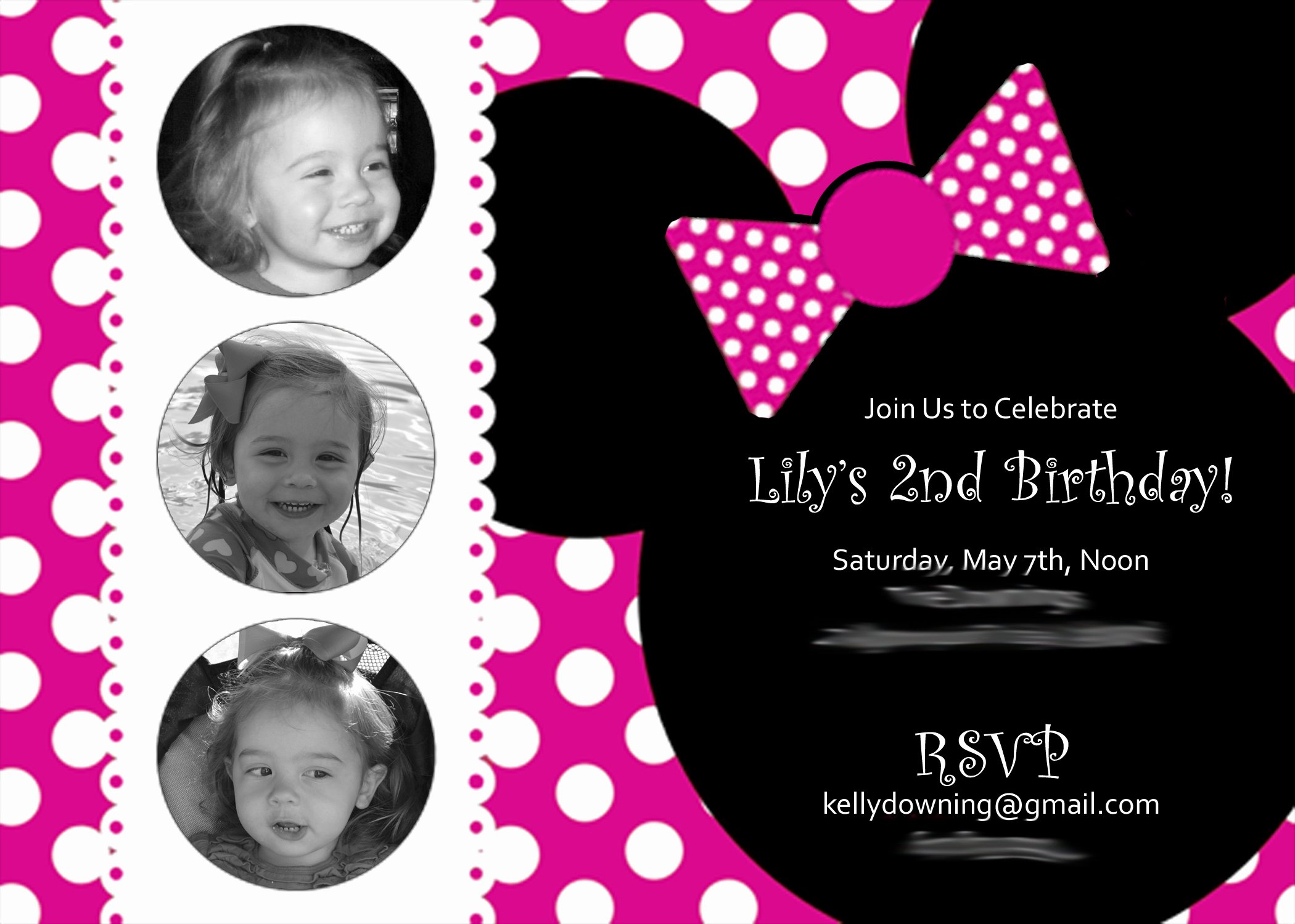 Minnie Mouse Birthday Invitations Luxury A Two Year's Olds Mini Minnie Birthday Party