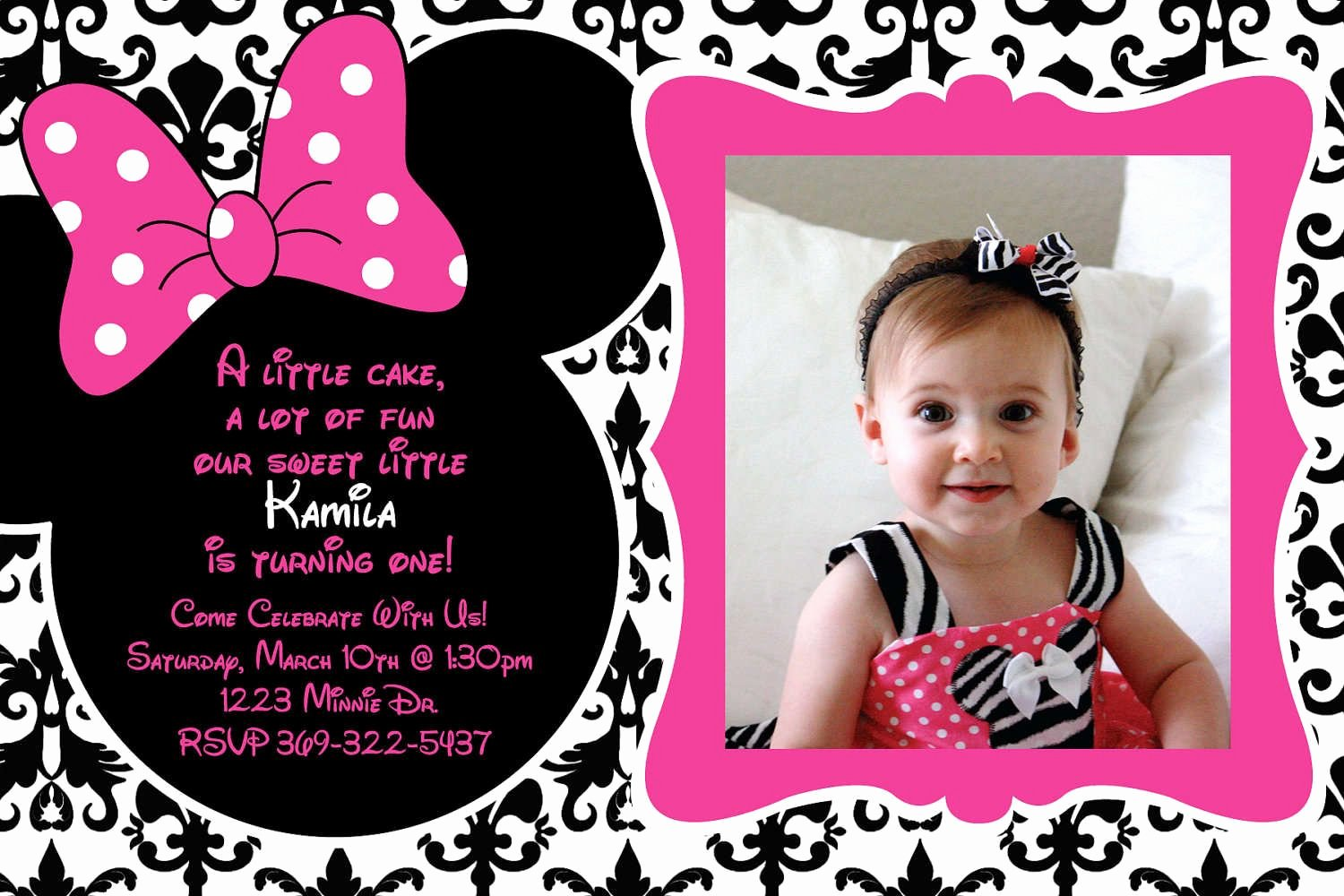 Minnie Mouse Birthday Invitations New Free Birthday Invitation Templates Minnie Mouse