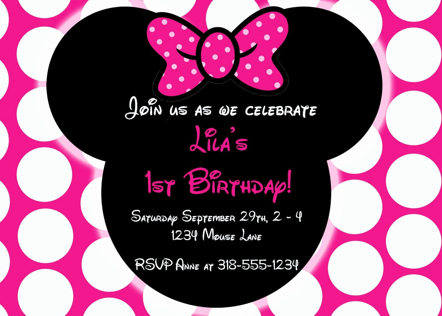 Minnie Mouse Birthday Invitations New Free Editable Minnie Mouse Birthday Invitations
