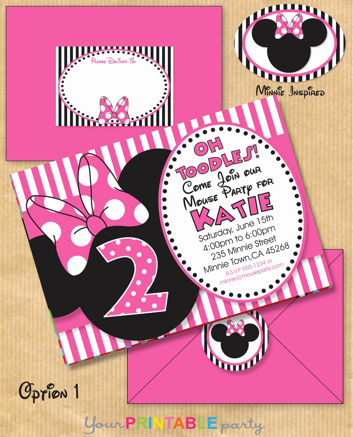 Minnie Mouse Birthday Invitations New Minnie Mouse Inspired Birthday Party by Yourprintableparty
