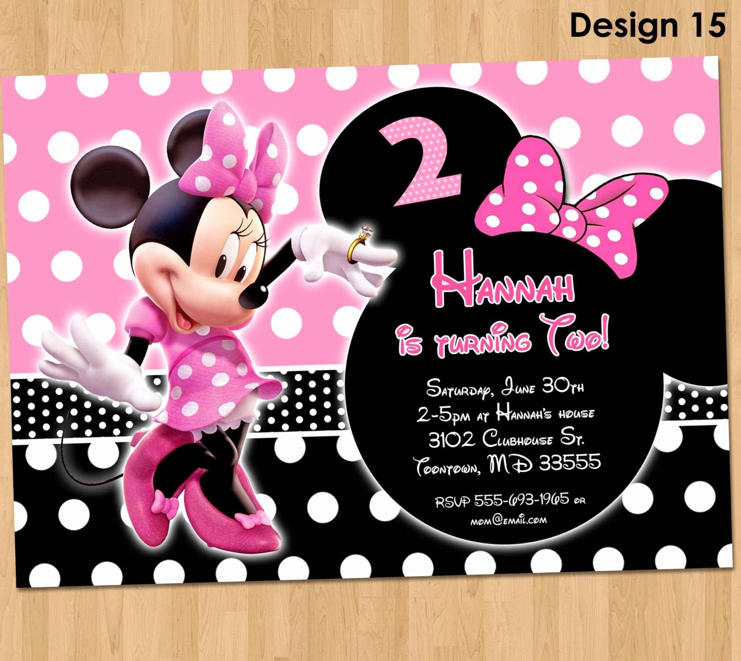 Minnie Mouse Birthday Invitations Unique Minnie Mouse Invitation Minnie Mouse Birthday Invitation
