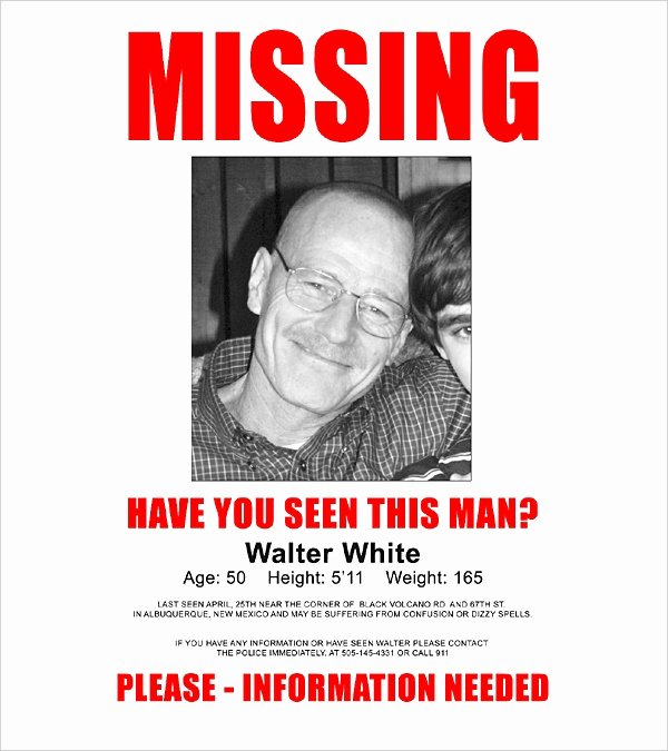 Missing Person Poster Template Beautiful 16 Wanted Poster Templates Free Sample Example format