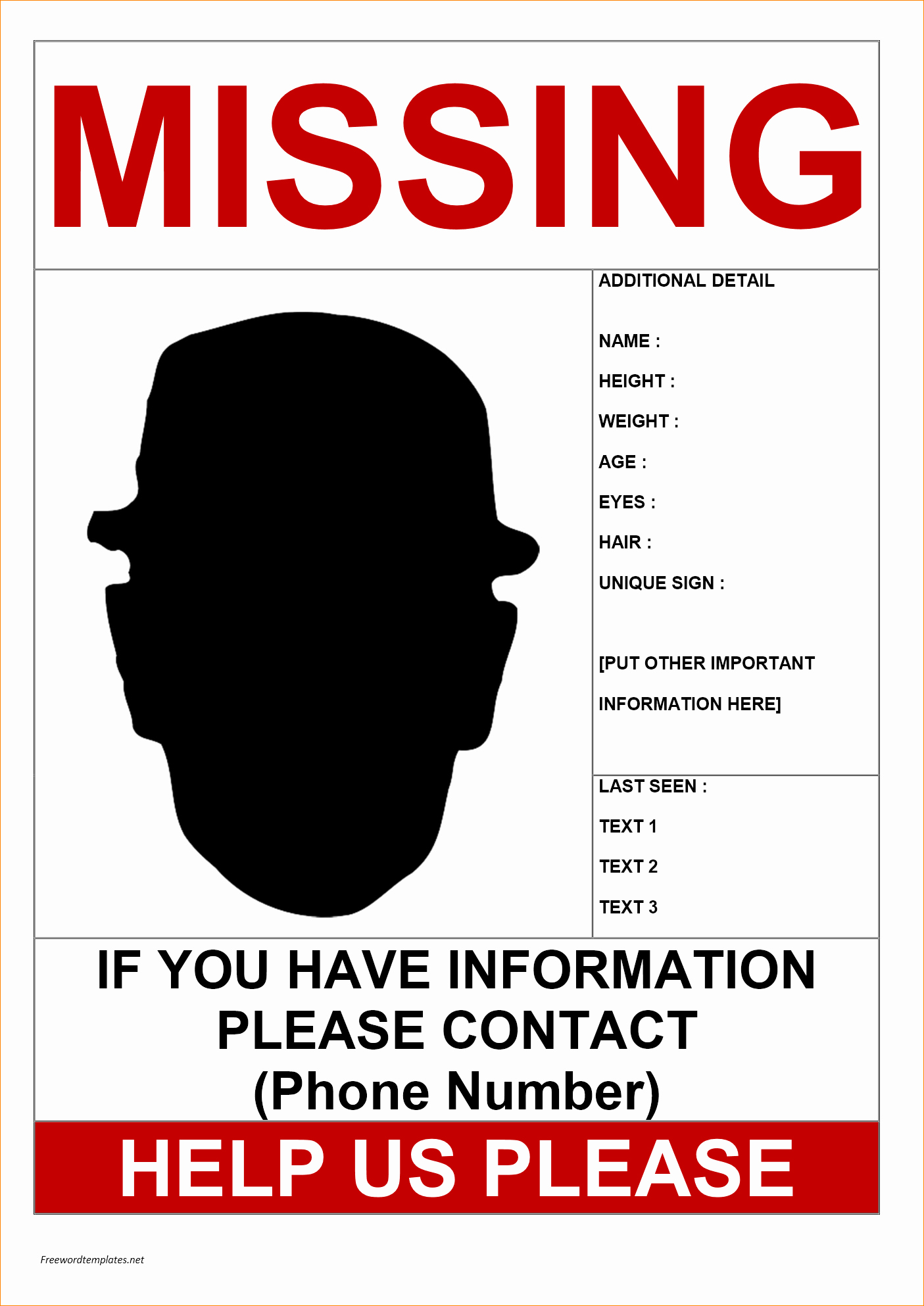 Missing Person Poster Template Beautiful Missing Person Poster Templates