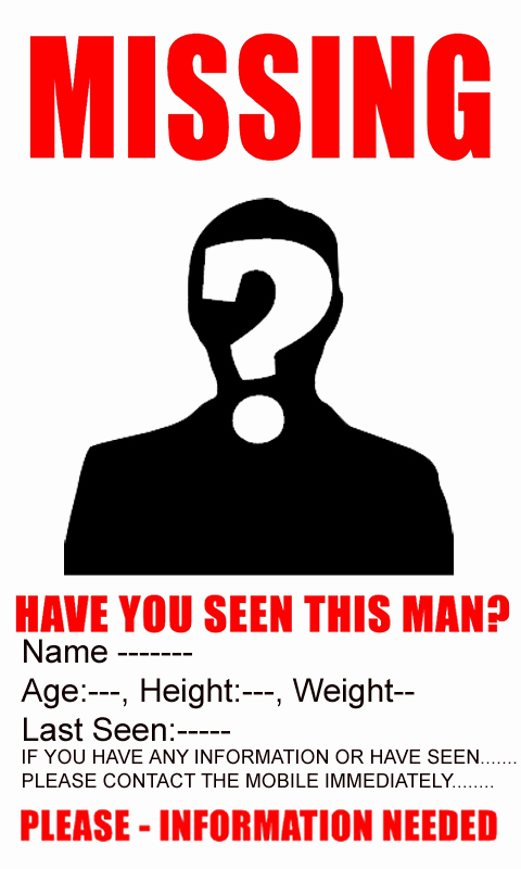 Missing Person Poster Template Inspirational Amazon Missing Poster Appstore for android