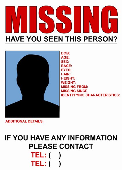 Missing Person Poster Template Inspirational where Did the Missing People Vanish to