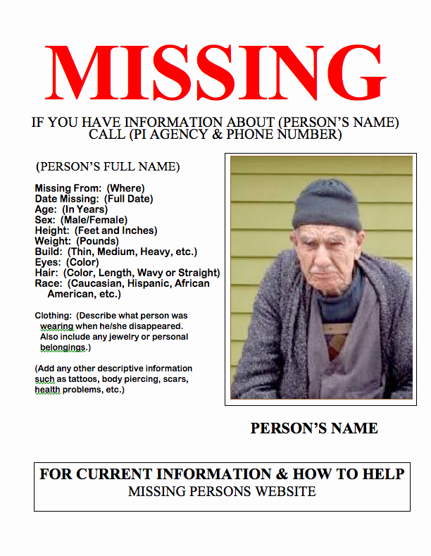 Missing Person Poster Template Unique Namus An Important tool In Missing Persons Investigations