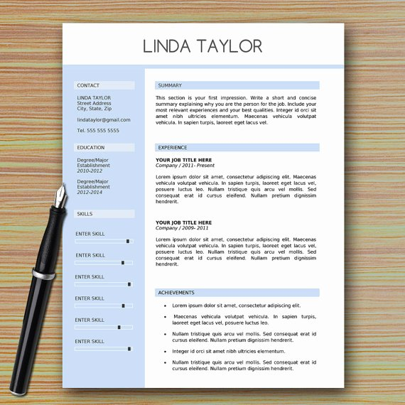 Modern Resume Template Word Awesome Professional Modern Resume Template for Microsoft Word