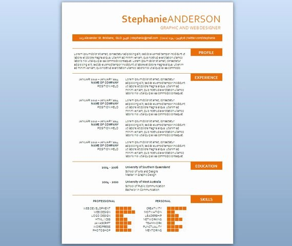 Modern Resume Template Word Beautiful Modern Microsoft Word Resume Template Stephanie by Inkpower