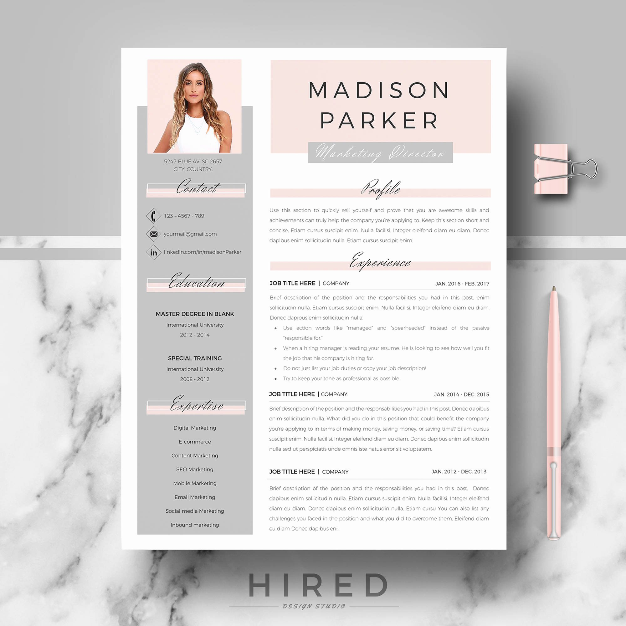 Modern Resume Template Word Best Of Creative & Modern Resume Cv Template for Word and Pages