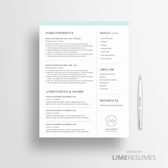Modern Resume Template Word Best Of Modern Resume Template for Microsoft Word Limeresumes