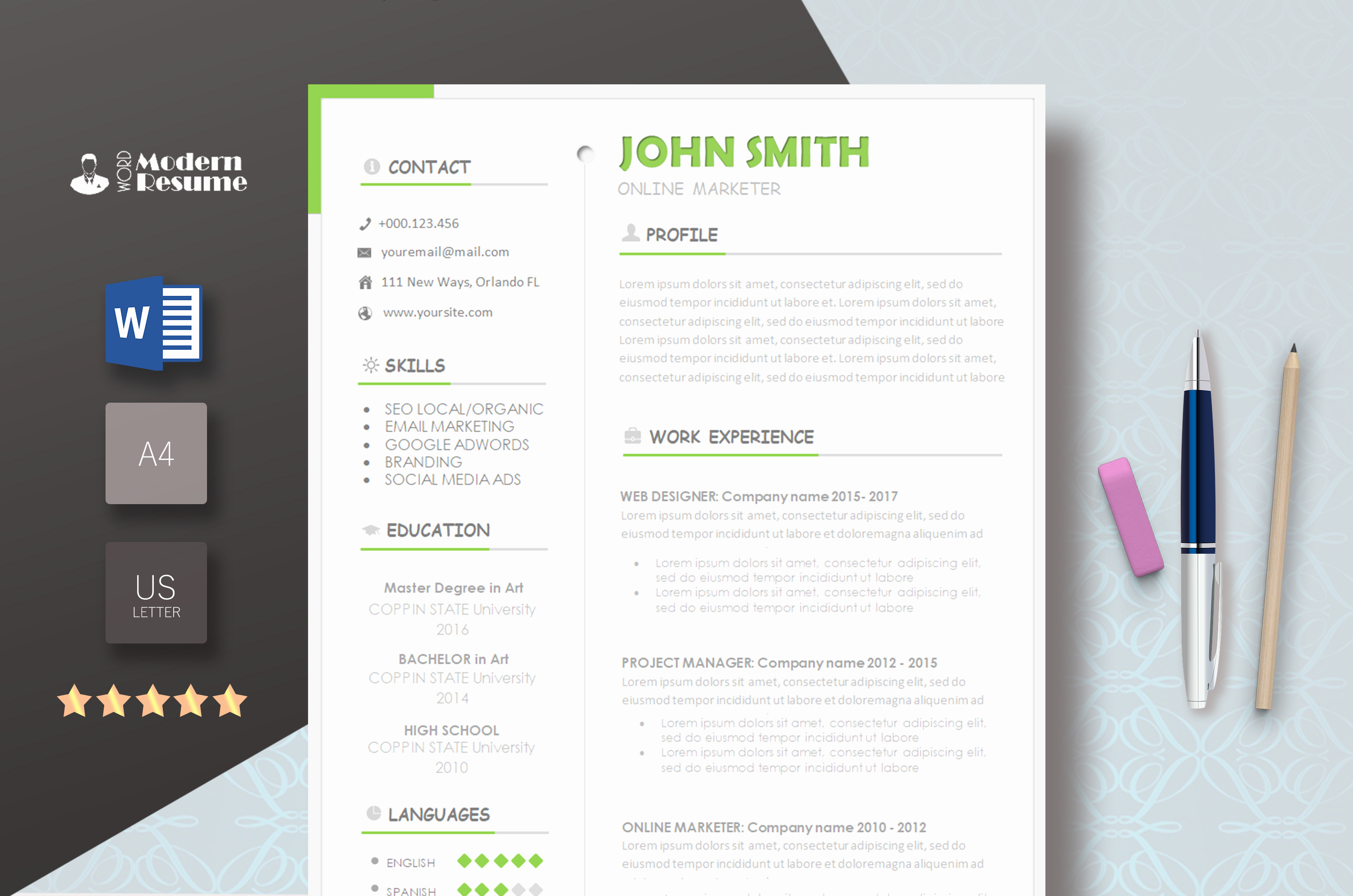 Modern Resume Template Word Fresh Free Template Modern Resume Templates 2019