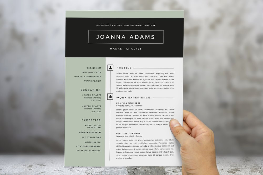 Modern Resume Template Word Inspirational 2 In 1 Modern Word Resume Template Resume Templates
