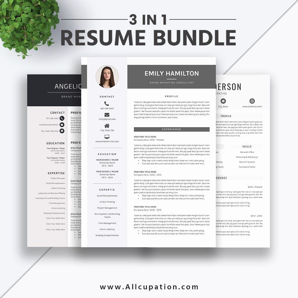 Modern Resume Template Word Lovely 2019 Best Selling Resume Bundle the Emily Rb Creative and