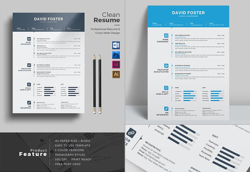 Modern Resume Template Word Lovely 25 Professional Ms Word Resume Templates with Simple