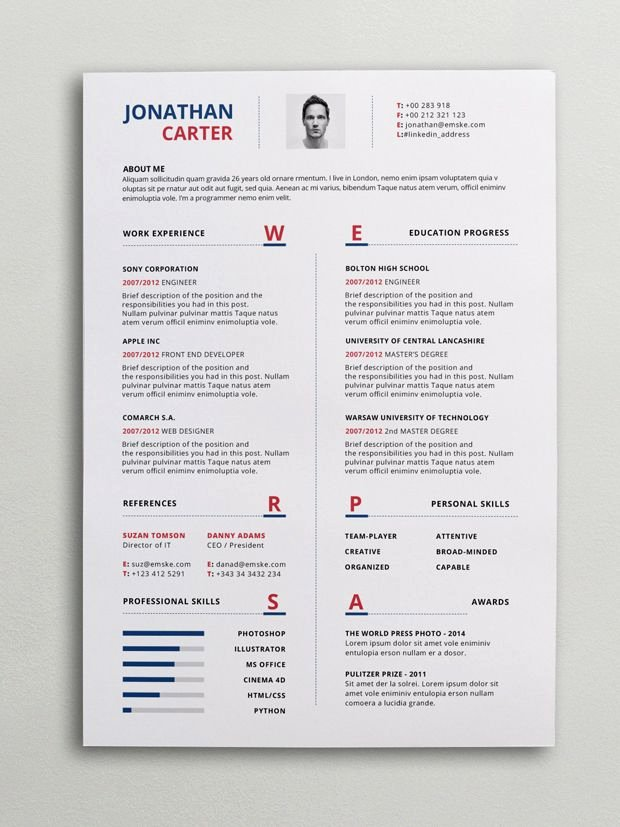 Modern Resume Template Word Luxury Modern Resume Cv Template Curriculum Vitae