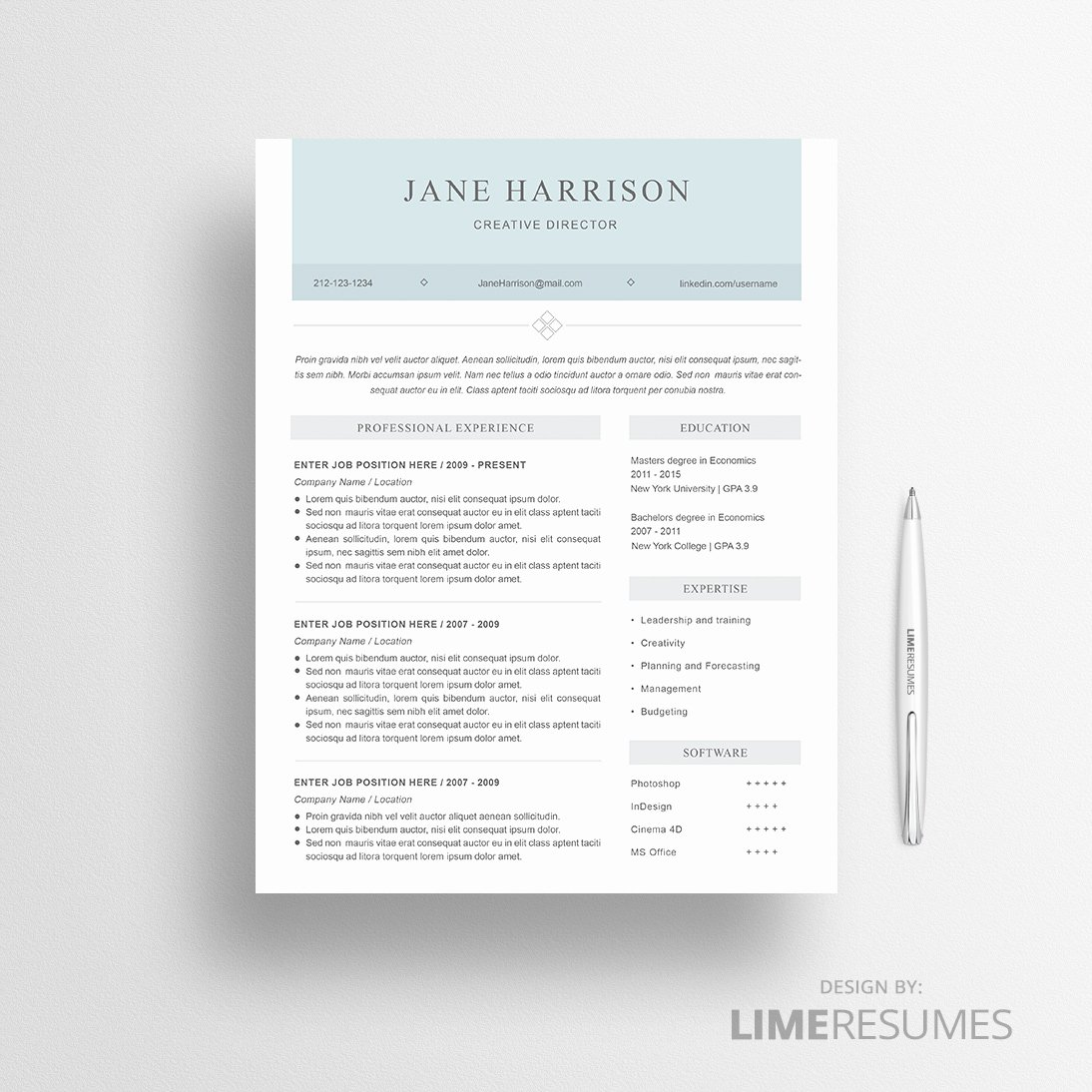 Modern Resume Template Word Luxury Modern Resume Template for Microsoft Word Limeresumes