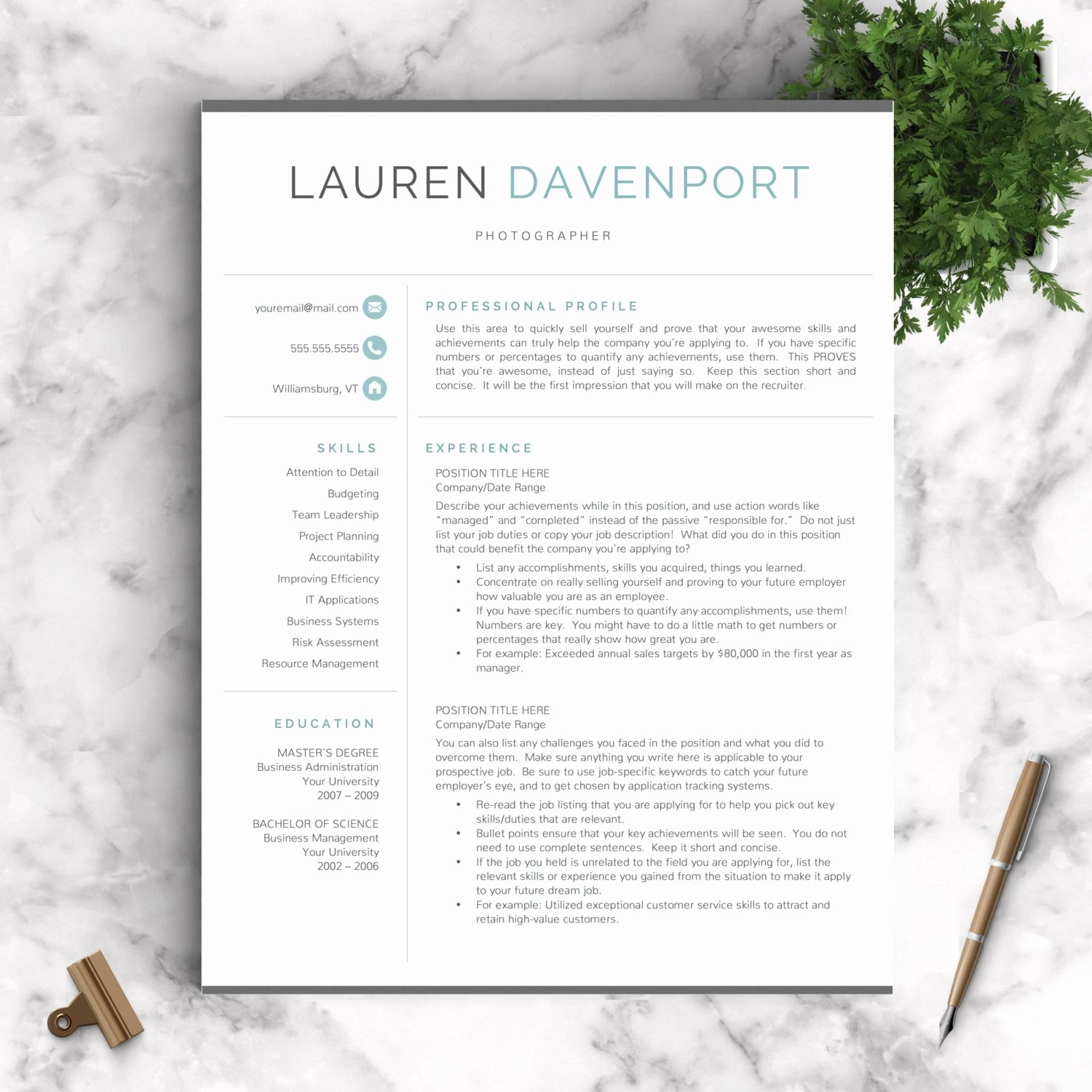 Modern Resume Template Word Luxury Modern Resume Template Professional Resume by