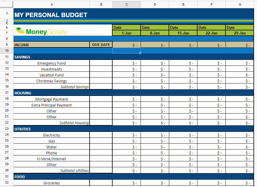 Monthly Budget Excel Spreadsheet Template Lovely Free Monthly Bud Spreadsheet