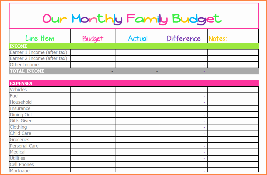 Monthly Budget Excel Template Best Of 10 Monthly Bill Spreadsheet Template