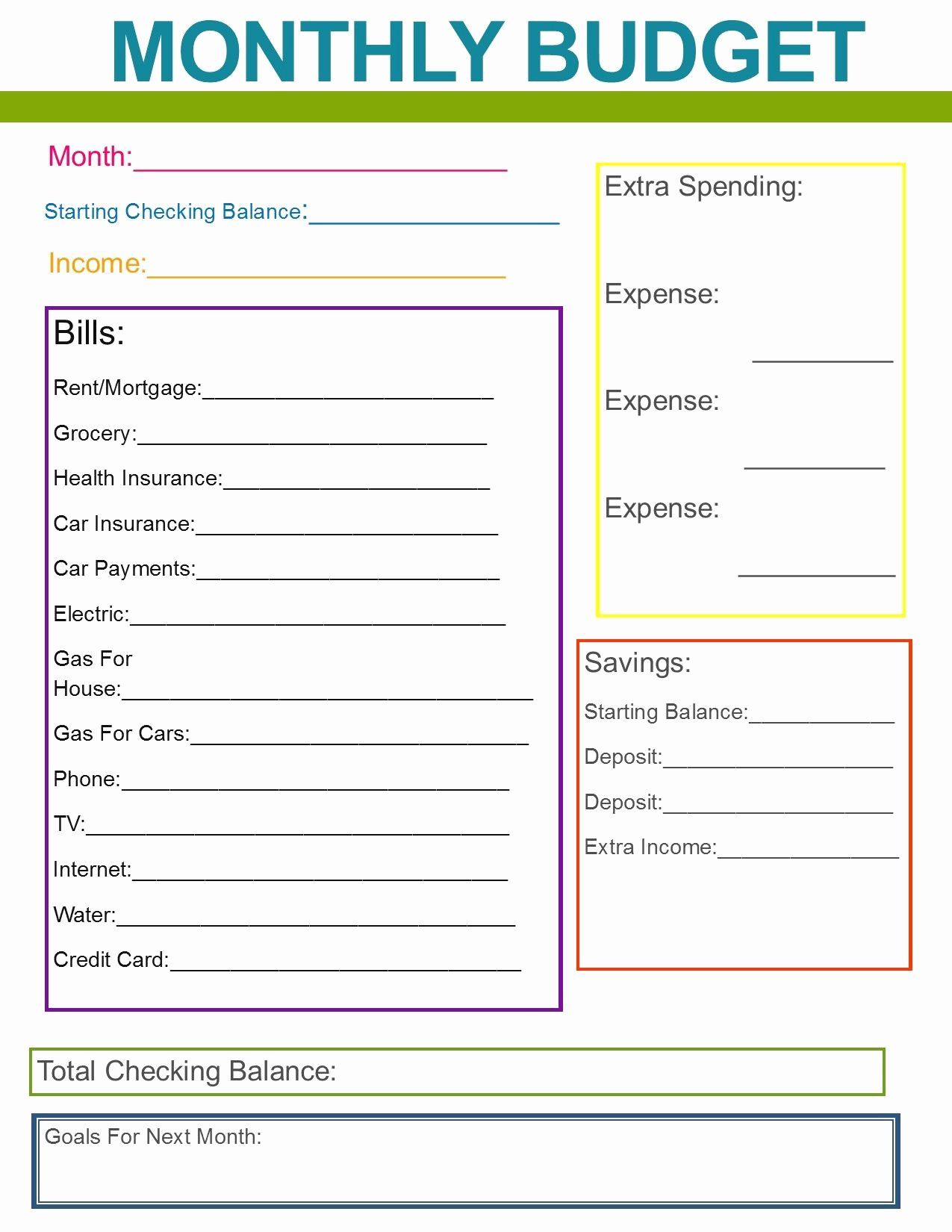 Monthly Budget Excel Template Unique Monthly Family Bud Great Habit to Start for the New