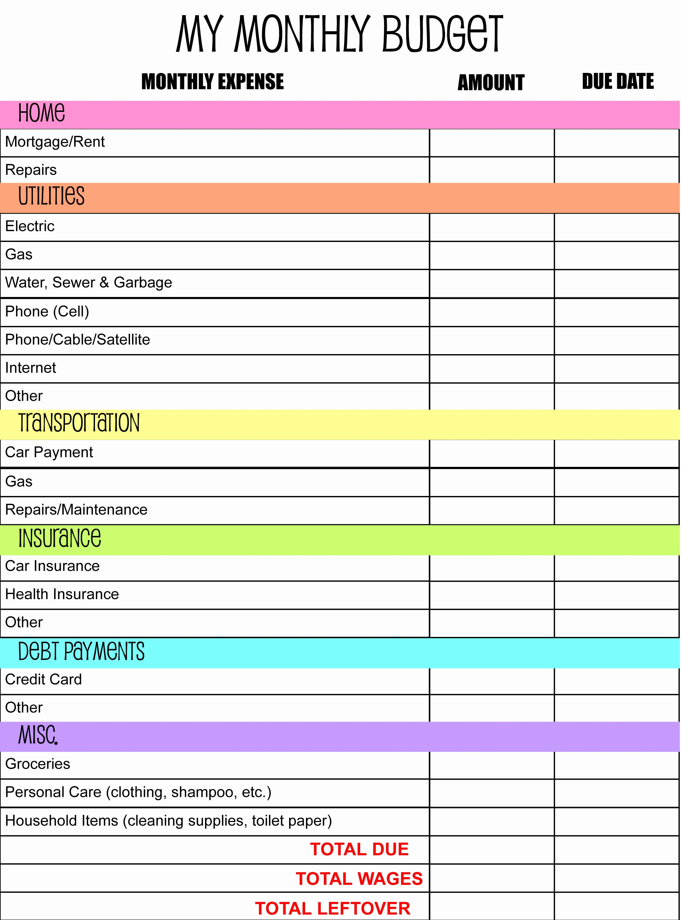 Monthly Budget Planner Template Best Of Monthly Bud Planner I Made anderson Publications