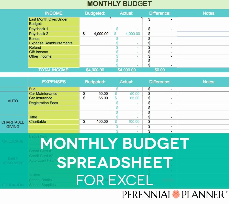 Monthly Budget Worksheet Excel Beautiful Monthly Bud Spreadsheet Household Money Tracker