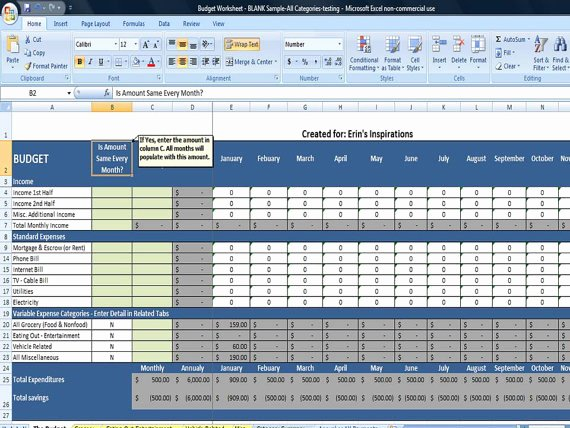 Monthly Budget Worksheet Excel Lovely Bud Worksheet In Excel Instant Download by