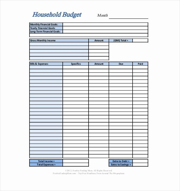 Monthly Budget Worksheet Pdf Beautiful Personal Bud Template 13 Free Word Excel Pdf