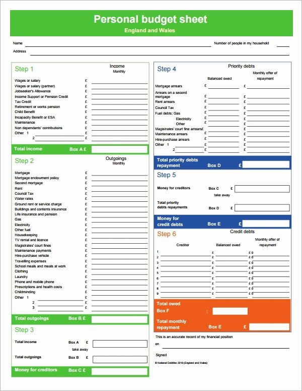 Monthly Budget Worksheet Pdf Best Of Free 12 Personal Bud Samples In Google Docs