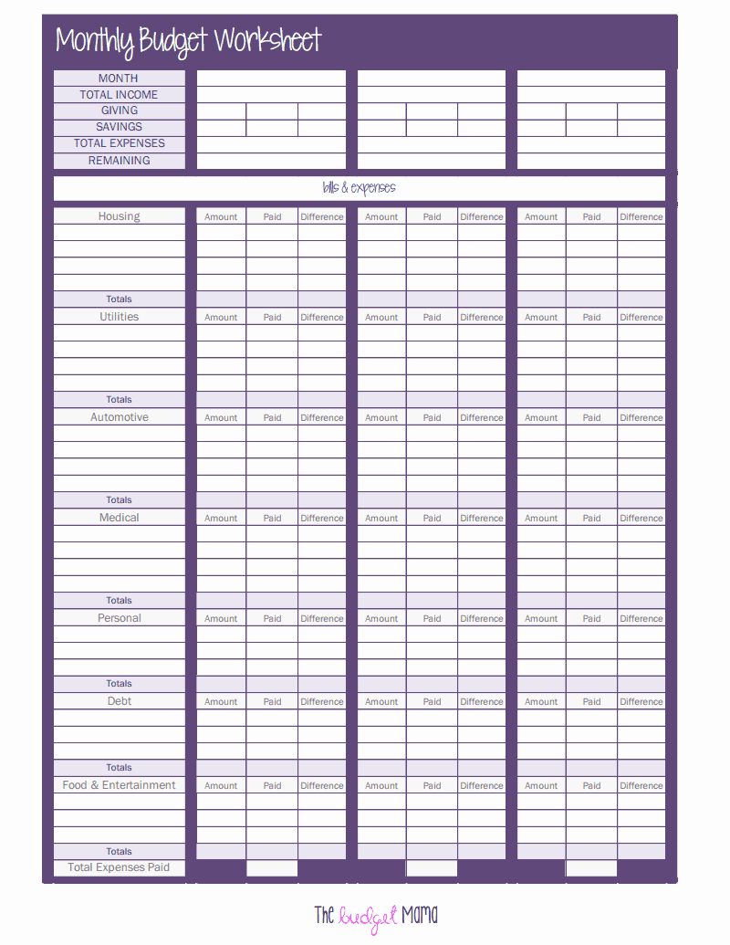 Monthly Budget Worksheet Pdf Elegant the Monthly Bud Worksheet Pdf Google Drive