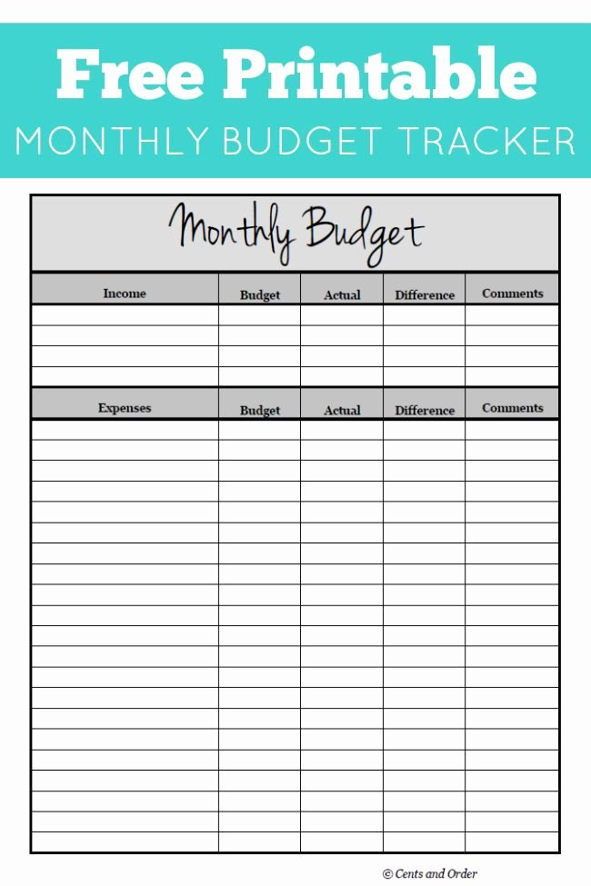 Monthly Budget Worksheet Printable Best Of Free Monthly Bud Printable Diy Ideas