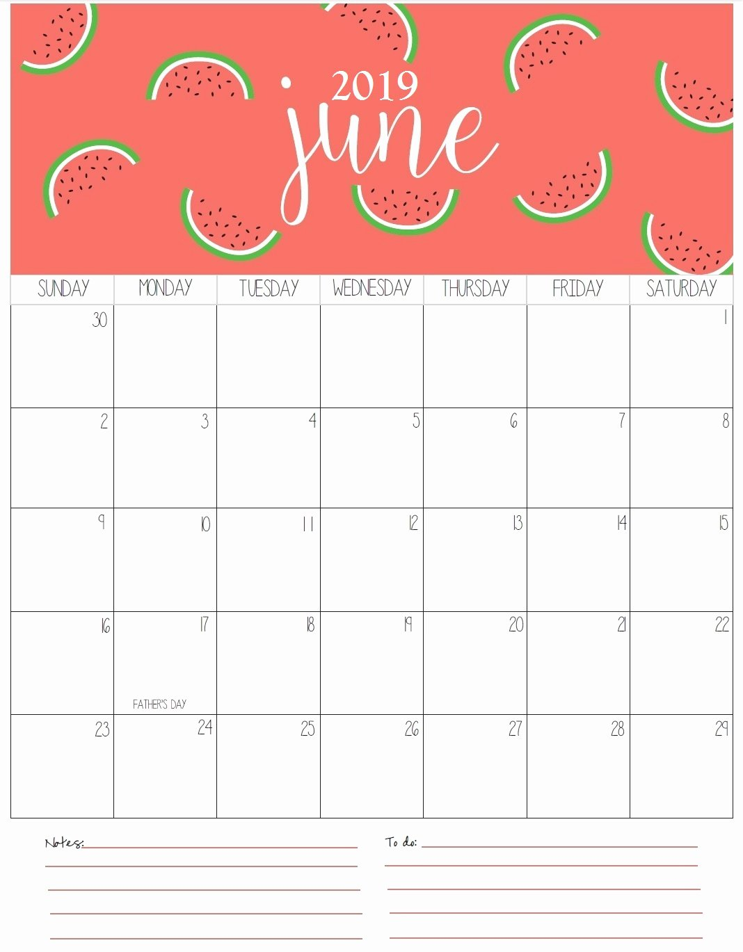 Monthly Calendar Template 2019 Beautiful Monthly Printable Calendar 2019