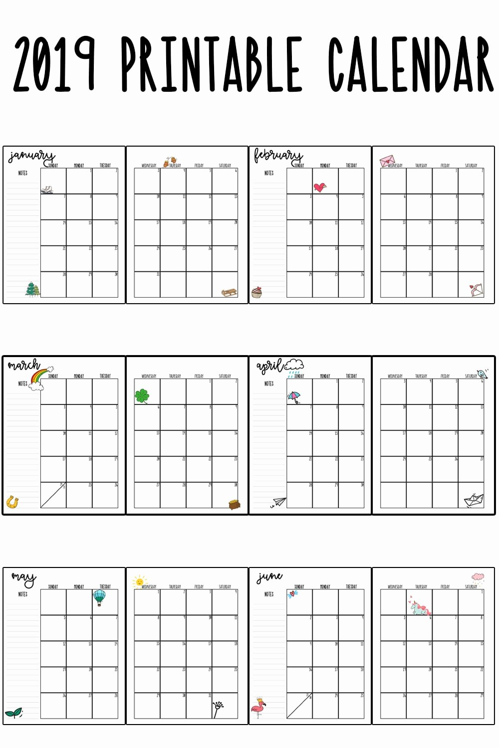 Monthly Calendar Template 2019 Best Of 2019 Printable Calendar