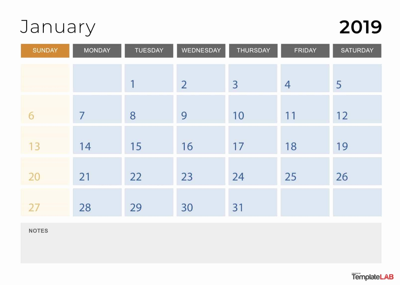 Monthly Calendar Template 2019 Fresh 2019 Printable Calendars [monthly with Holidays Yearly