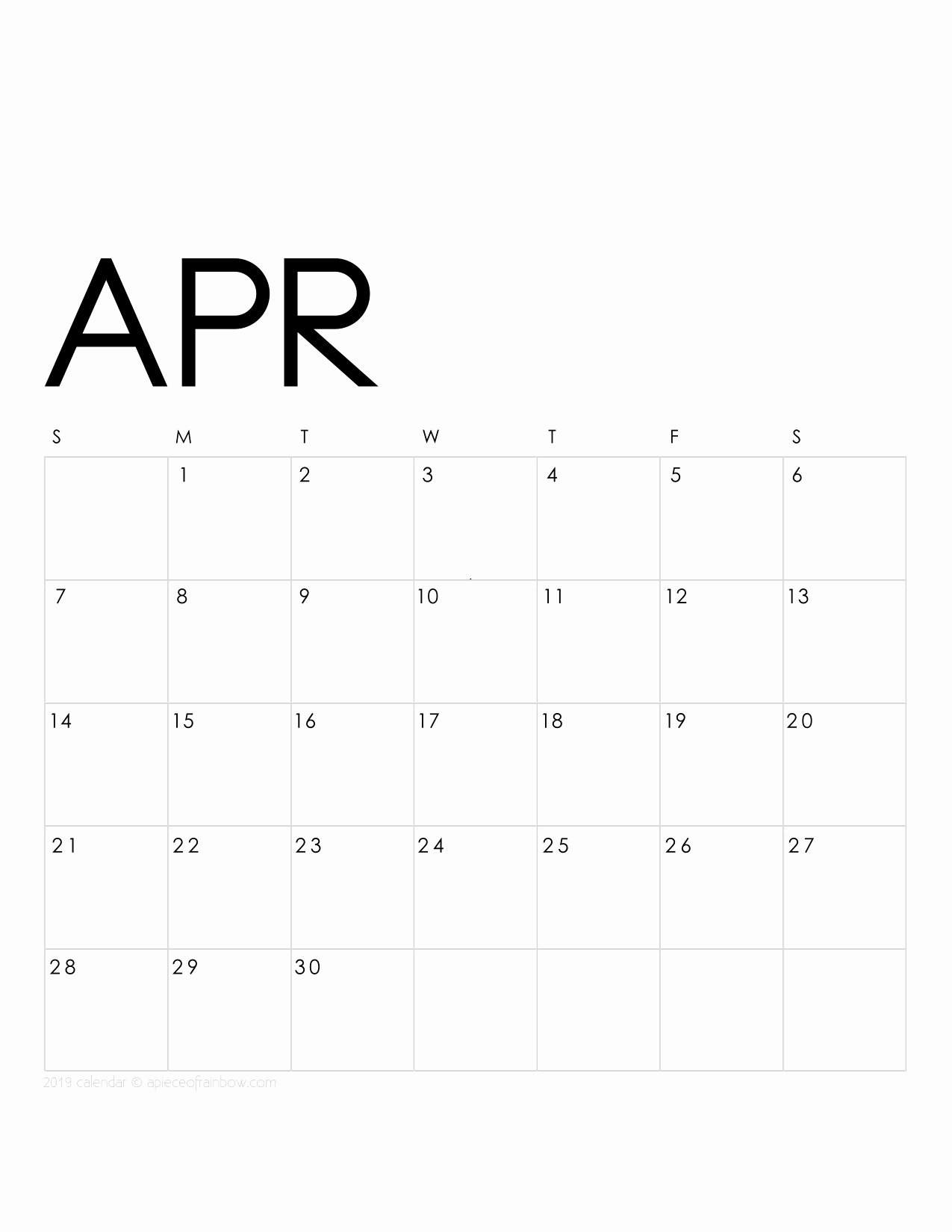 Monthly Calendar Template 2019 Luxury Printable April 2019 Calendar Monthly Planner 2 Designs