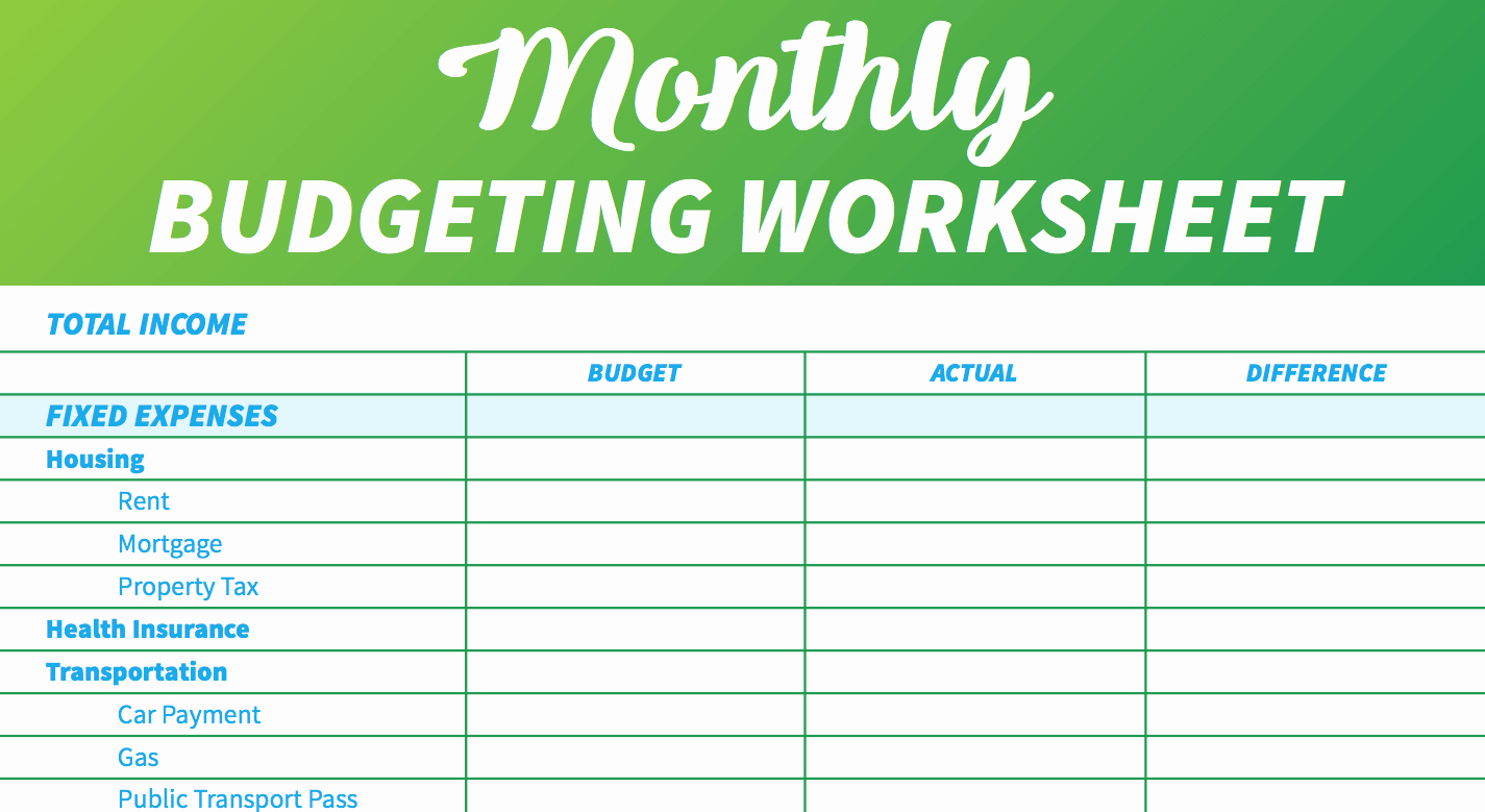 Monthly Household Budget Template Awesome 14 Easy to Use Free Bud Templates