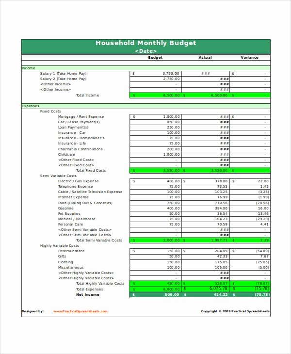 Monthly Household Budget Template Awesome 31 Excel Monthly Bud Templates Word Excel Pages