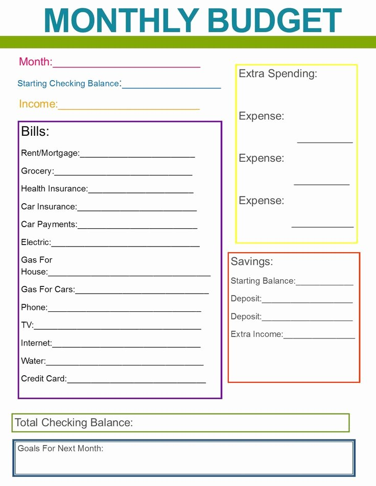 Monthly Household Budget Template Awesome Best 25 Monthly Bud Template Ideas On Pinterest