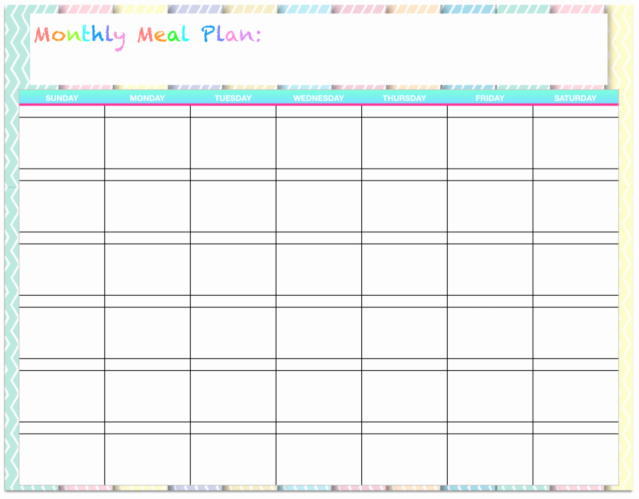 Monthly Meal Planner Template Awesome Free Templates Monthly Menu Planners the Housewife Modern