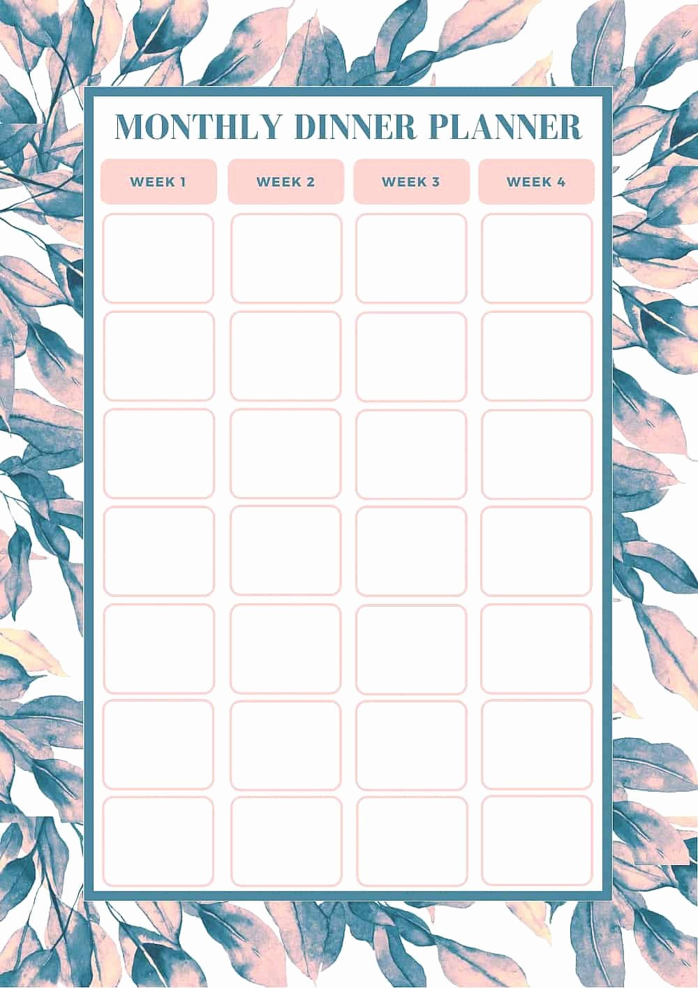 Monthly Meal Planner Template Elegant Free Monthly Meal Planning Template Bake Play Smile