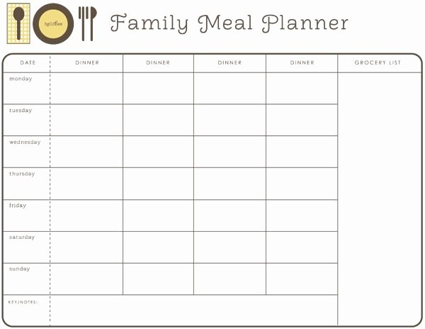 Monthly Meal Planner Template Lovely Monthly Meal Planner Free Printable Meal Planning