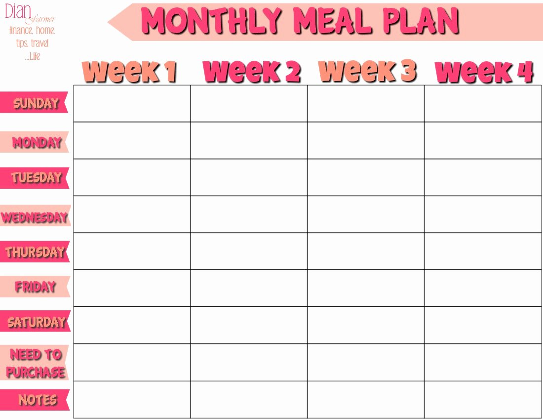 january whole week meal plan whole 30 meal plan template 2