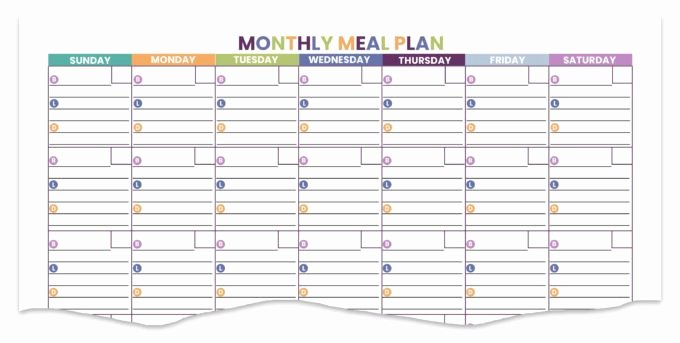 Monthly Meal Planner Template Unique the 15 Best Free & Paid Meal Planning Templates