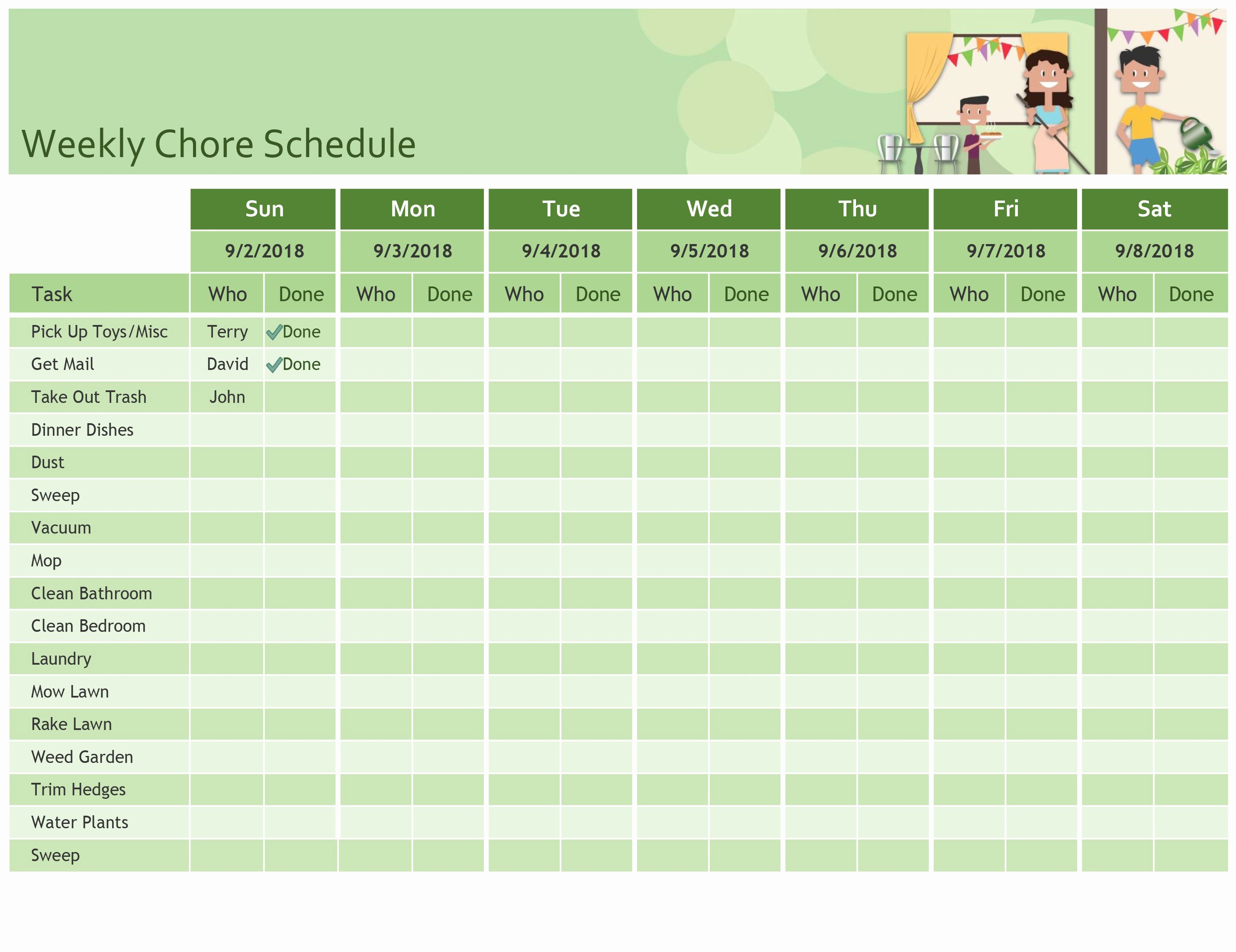 Monthly Schedule Template Excel Awesome Excel
