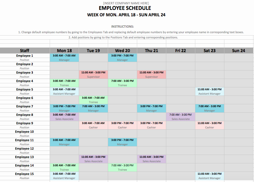 Monthly Schedule Template Excel Elegant if You Manage Employees Chances are You Need An Employee
