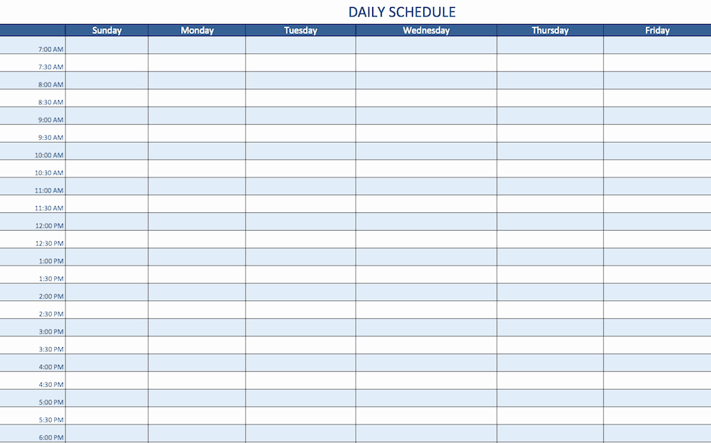 Monthly Schedule Template Excel Fresh Free Excel Schedule Templates for Schedule Makers